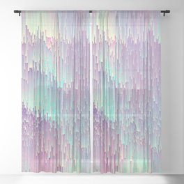 Iridescent Glitches Sheer Curtain