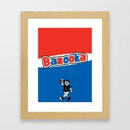 Bazooka retro bubble chewing gum Framed Art Print