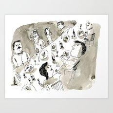 Dinner Party Art Print