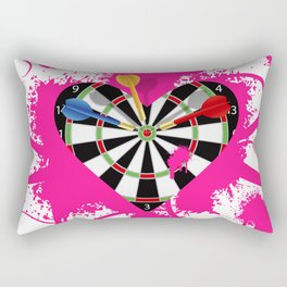 Dartboard Romance Rectangular Pillow