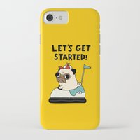 pug iPhone & iPod Cases featuring PUG! by Jarvis Glasses