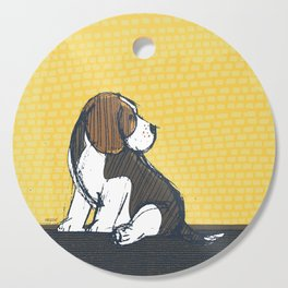 Beagle Puppy Portait by Friztin Cutting Board