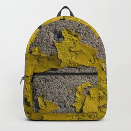 Yellow Peeling Paint on Concrete 2 Backpack