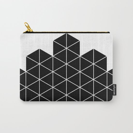 Black And White Stack Carry-All Pouch