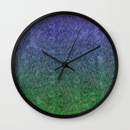 Nightfall Forest Glitter Gradient Wall Clock