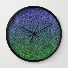 Nightfall Forest Glitter Gradient Wall Clock