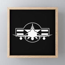 F-4 Phantom II Military Fighter Jet Airplane Framed Mini Art Print