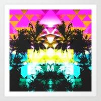 hawaiian Art Prints featuring Hawaiian Quilt by The Digital Weaver