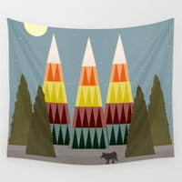 hunter Wall Tapestries featuring The Hunter by Tammy Kushnir