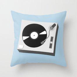 Turntable Illustration Throw Pillow