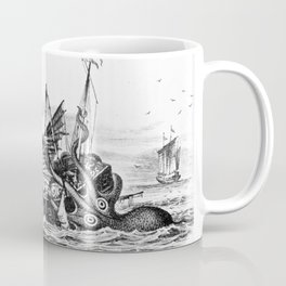 1810 vintage nautical octopus steampunk kraken sea monster drawing print Denys de Montfort retro Coffee Mug