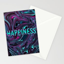 """ABSTRACT LIQUIDS HAPPINESS """"51"""" Stationery Cards"""