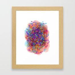 Dedicated to scribble Framed Art Print