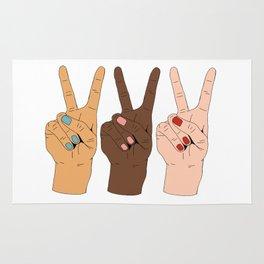 Peace Hands Rug