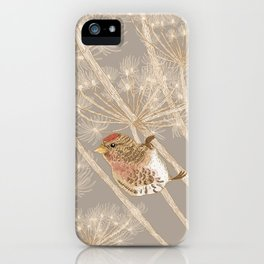 Redpoll on Hogweed iPhone Case