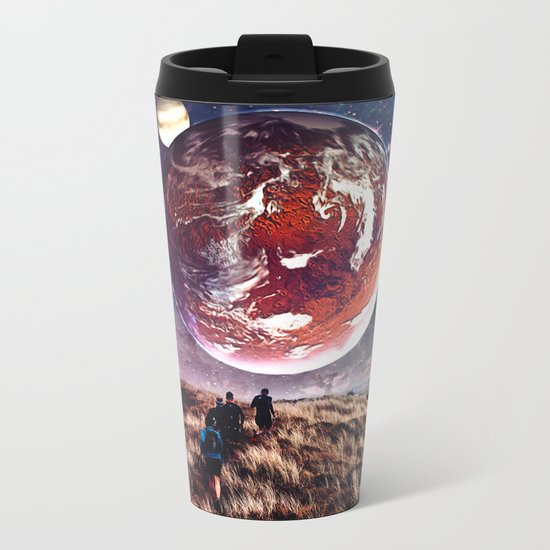 Towards New Worlds Metal Travel Mug