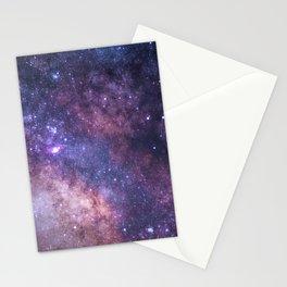 Purple Galaxy Star Travel Stationery Cards