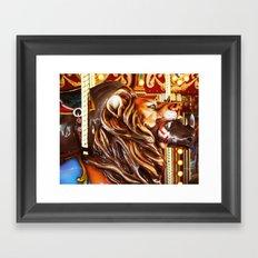 Wild Ride On A Carousel Framed Art Print