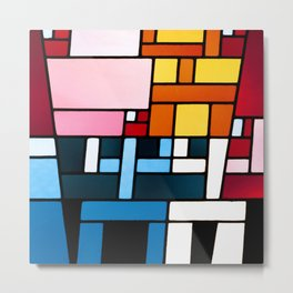 Sophie Taeuber-Arp Stained Glass Metal Print