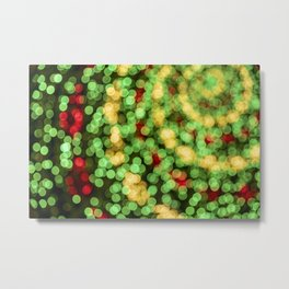 Holiday Spiral Bokeh Metal Print