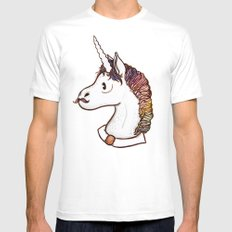 Doctor Unicorn Mens Fitted Tee MEDIUM White
