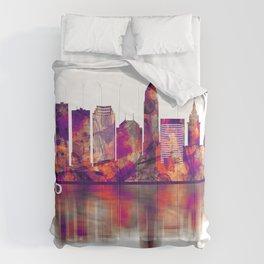 Cleveland Ohio Skyline Comforters