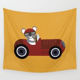 Koala Racer Wall Tapestry
