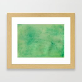 MINT GREEN WATERCOLOR BACKGROUND.  Framed Art Print