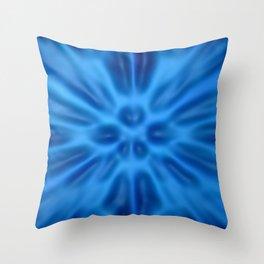 Blue plastification Throw Pillow