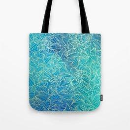 Blue ultramrine yellow geometric waltz Tote Bag