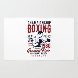 lengendary boxing Rug