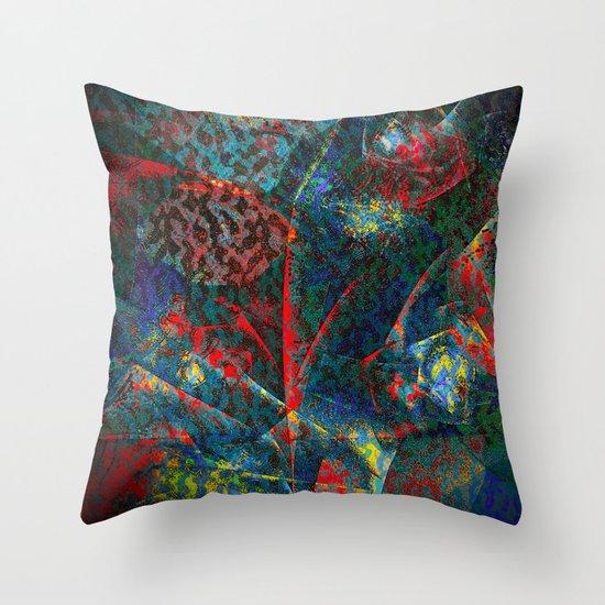 Fractal Flower Throw Pillow