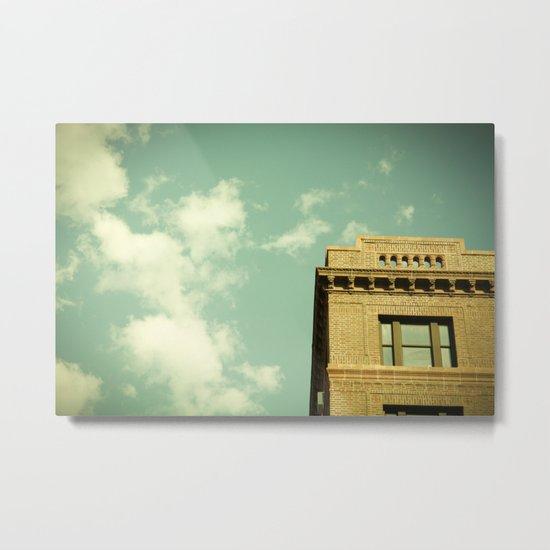 Green Skies Metal Print