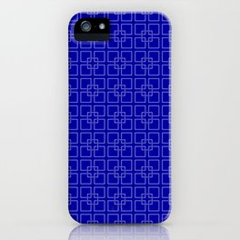 Rich Earth Blue Interlocking Square Pattern iPhone Case