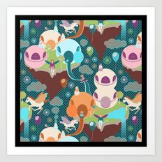 Fantasy Islands Art Print