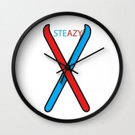 Skiing Steazy Wall Clock