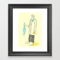 Pez y naranja Framed Art Print
