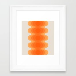 Echoes - Creamsicle Framed Art Print