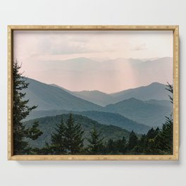 Smoky Mountain Pastel Sunset Serving Tray