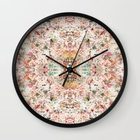 minerals Wall Clocks featuring Mystic Minerals by Caroline Sansone