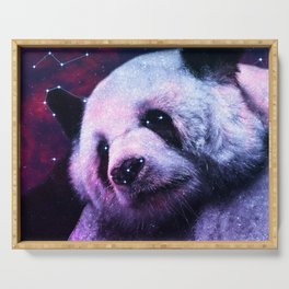 Sleepy Galaxy Giant Panda Serving Tray