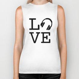 Headphone LOVE Biker Tank