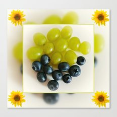 Grapes and Blueberries Canvas Print