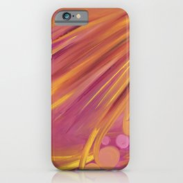 Vegas Feathers - Intuitive Art pink, orange and yellow iPhone Case