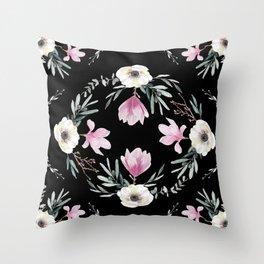 Magnolias, Eucalyptus & Anemones Throw Pillow