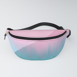 Abstract teal pink aqua geometrical brushstrokes Fanny Pack