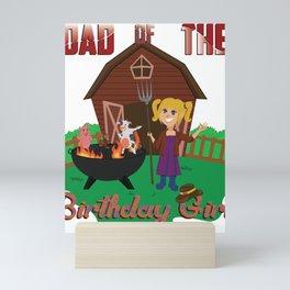 Cow Funny Gift For Barnyard BBQ Grill Birthday Parties Mini Art Print