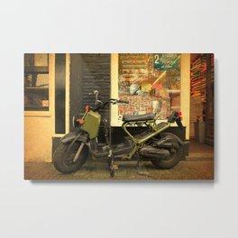 Amsterdam Dutch Bikes: The Scooter Metal Print