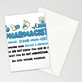 Pharmacist Funny Definition Pharmaceutical Gifts For Doctors Stationery Cards