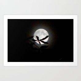 Buckeye Moon Art Print